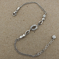 Srebrna bransoletka - 13686 13686