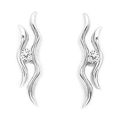 Srebrne kolczyki - 14610-14610: zdjęcie 1