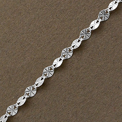 Srebrny łańcuszek - 11649 11649
