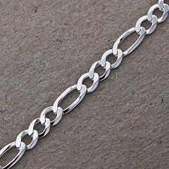 Srebrny łańcuszek - 13257-13257: zdjęcie 3