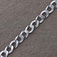 Srebrny łańcuszek - 13297-13297: zdjęcie 3