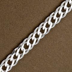 Srebrny łańcuszek - 16428 16428