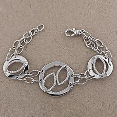 Srebrna bransoletka - 8500-8500: zdjęcie 8