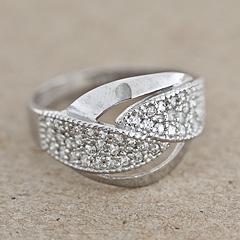 Srebrny pierscionek - 12658 12658