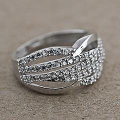 Srebrny pierscionek - 12699 12699