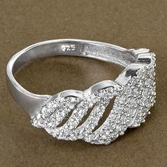 Srebrny pierscionek - 15248 15248