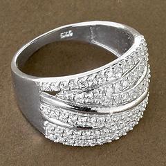 Srebrny pierscionek - 15257 15257