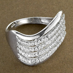 Srebrny pierscionek - 15303 15303