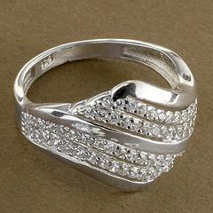 Srebrny pierscionek - 15306 15306