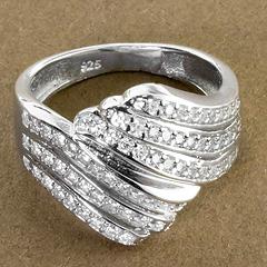 Srebrny pierscionek - 15318 15318