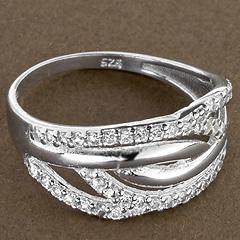 Srebrny pierscionek - 15351 15351