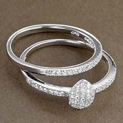 Srebrny pierscionek - 15560 15560