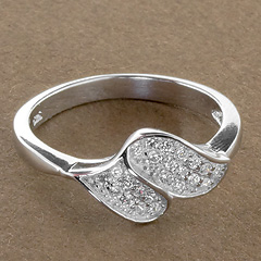 Srebrny pierscionek - 15657 15657