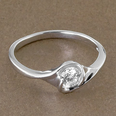 Srebrny pierscionek - 15740 15740