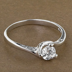 Srebrny pierscionek - 15864 15864